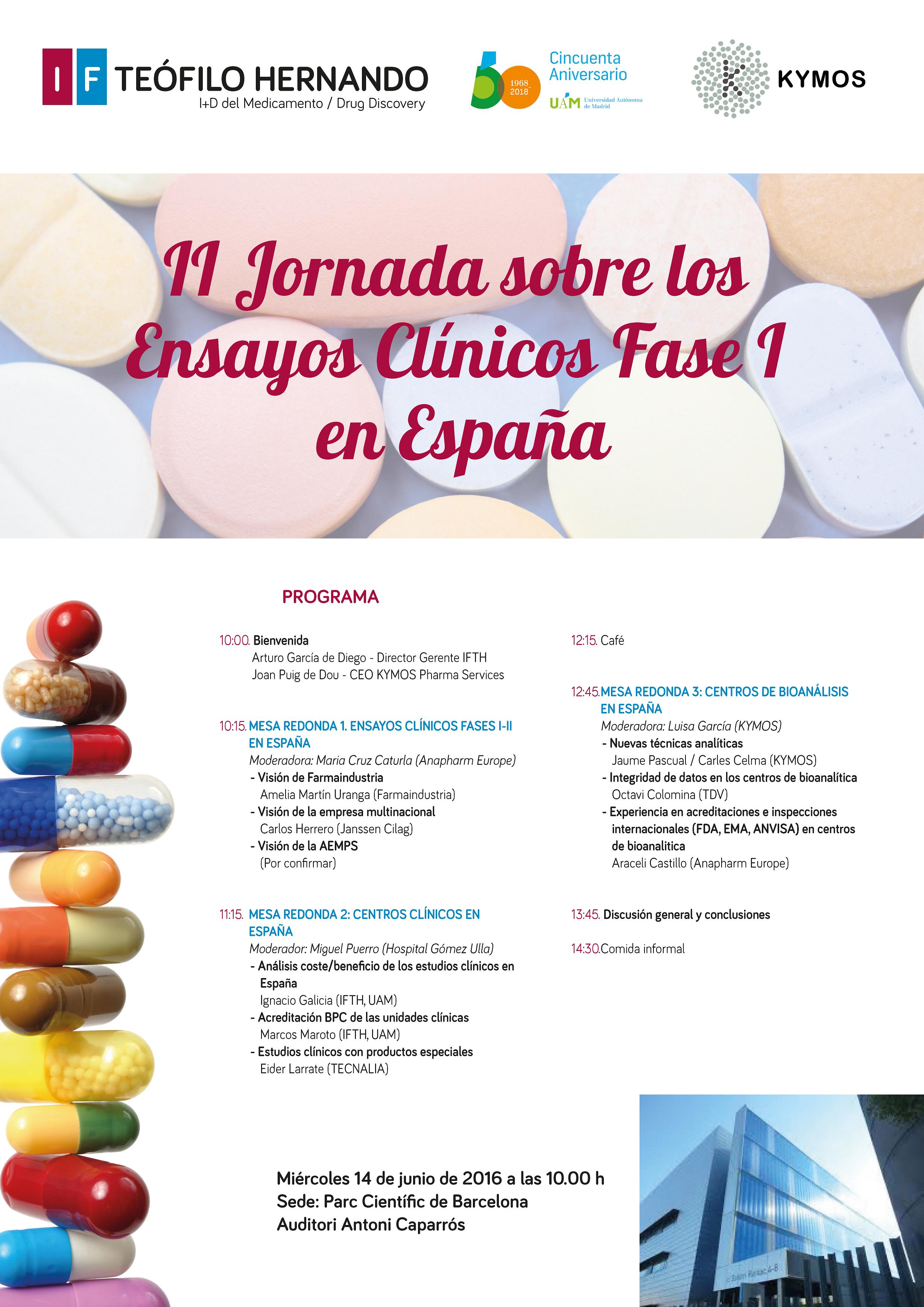 II Jornada sobre Ensayos Clínicos Fase I en España   IFTH